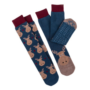 Men's 2Pack Slipper Socks Moose