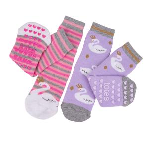 Childrens 2Pack Boxed Slipper Socks Swan