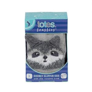 Childrens Boxed Novelty Slipper Socks Raccoon
