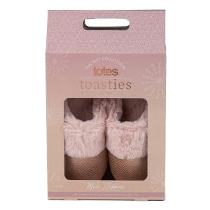 Ladies Boxed Sparkle Suedette Mule Pink