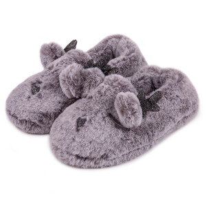 Ladies Boxed Novelty Reindeer Slipper