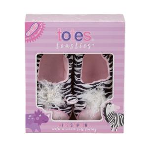 Childrens Boxed Novelty Slipper Zebra