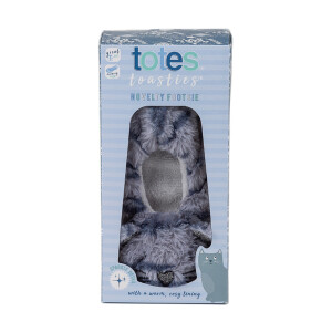 Childrens Cat Footsie Slipper Blue