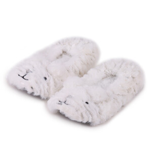 Childrens Cat Footsie Slipper White