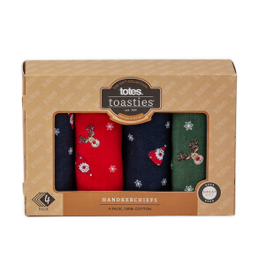 Men's 4Pack Boxed Hankies Novelty