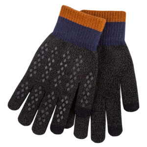 Men's Smart Touch Glove Charcoal
