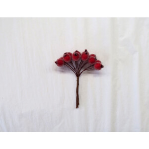 Crystal Red Berry Pick Decoration
