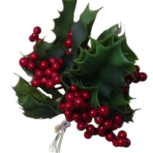 Faux Holly Leaves and Berries Bundle