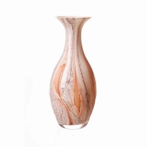 Vase In Apricot Earth 25Cm