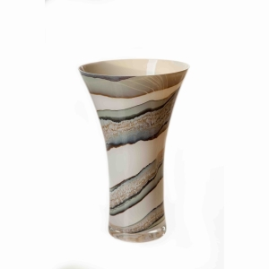 Vase In Classic Design In Smoked Meadow 30Cm