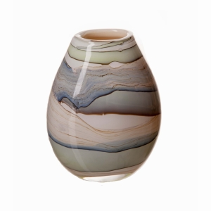 Vase Oval Smoked Meadow 20cm