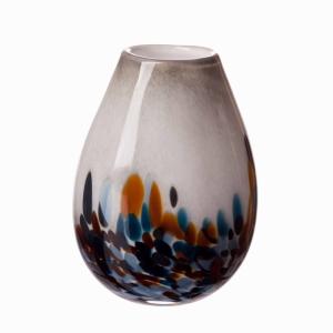 Vase Oval Sm Blue Dynasty 20Cm