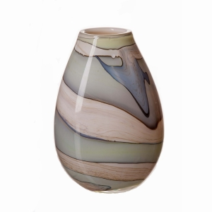 Vase In Smoked Meadow 30Cm