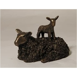 Ewe With Lamb Sculpture
