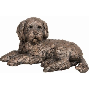Sculpture Ozzy Lying Cockapoo