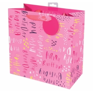 Pluto Pink Kids Birthday Gift Bag Med