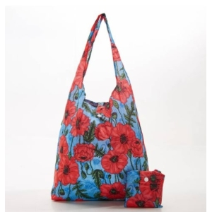 Blue Poppies Shopper