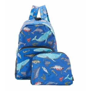 Blue Sea Creatures Backpack