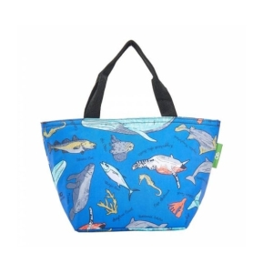 Blue Sea Creatures Lunch Bag