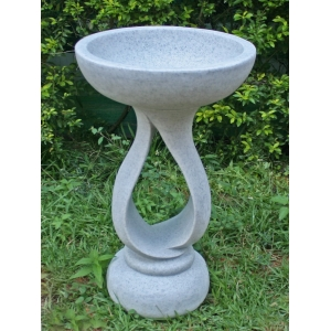 Contemporary Bird Bath Granite
