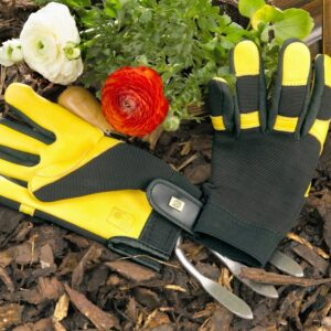 Gold Leaf Soft Touch Ladies Gardening Gloves