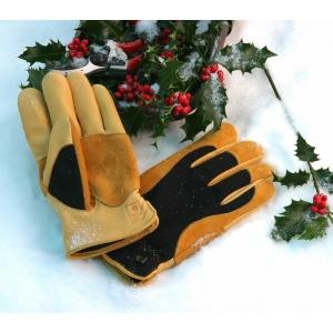 Gold Leaf Winter Touch Ladies Gardening Gloves
