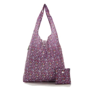 Purple Ditsy Shopper