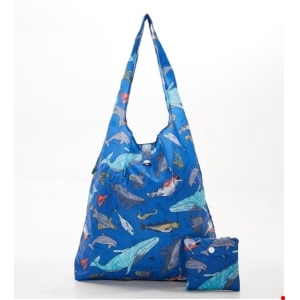 Blue Sea Creatures Shopper