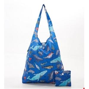 Blue Sea Creatures Shopper