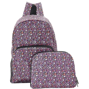 Purple Ditsy Backpack