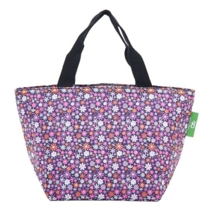 Purple Ditsy Lunch Bag