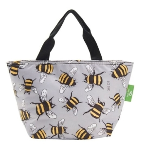 Grey Bees Lunch Bag