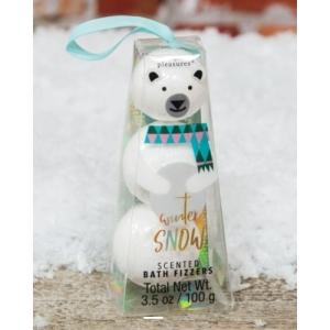 Stacked Polar Bear Bath Fizzers 3Pk