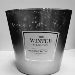 Winter Col Silver 3 Wick Candle Midnight Patchouli