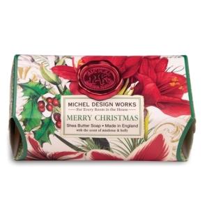 Merry Christmas Large Bath Soap Bar