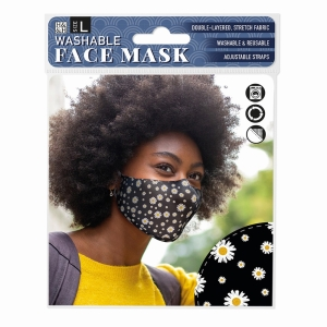 Face Mask Daisy Black