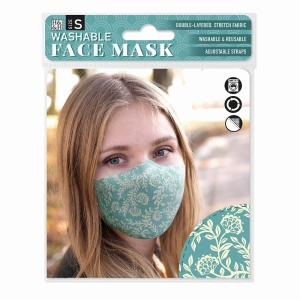 Face Mask Vintage Floral Teal
