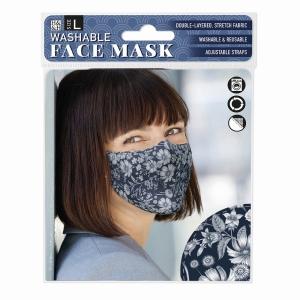 Face Mask Dark Vintage Floral