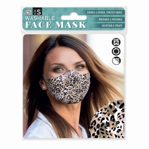 Face Mask Abstract Leopard
