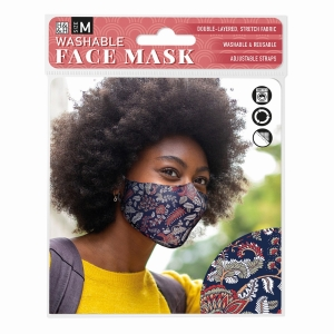 Face Mask Dark Paisley