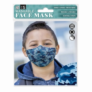 Face Mask Blue Camouflage