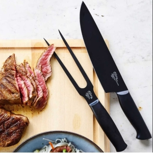 Green Chef Meatfork And Chefs Knife