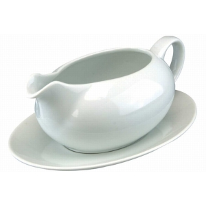 Large Gravy Boat With Suacer
