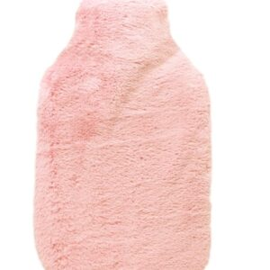 Square Hot Water Bottle Bunny Fur Blush