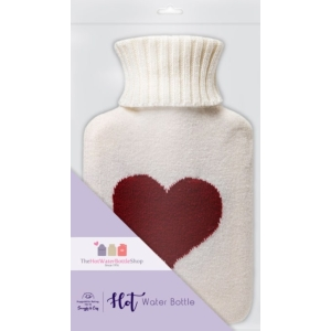 Mini Hot Water Bottle Love Heart