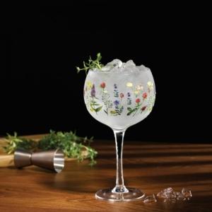 Wildflower Copa Glass