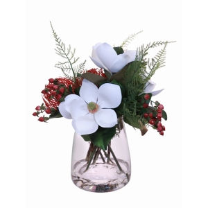 Magnolia + Pincushion In Vase Med