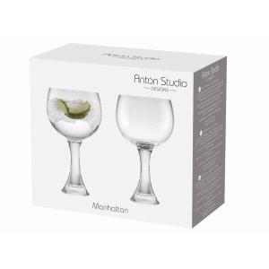 Set Of 2 Manhattan Gin Glasses