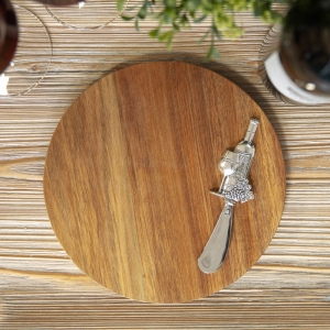Acacia Cheese Board With Spreader Wine