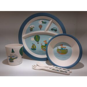 Kids Dinner Set Of 5 Blue